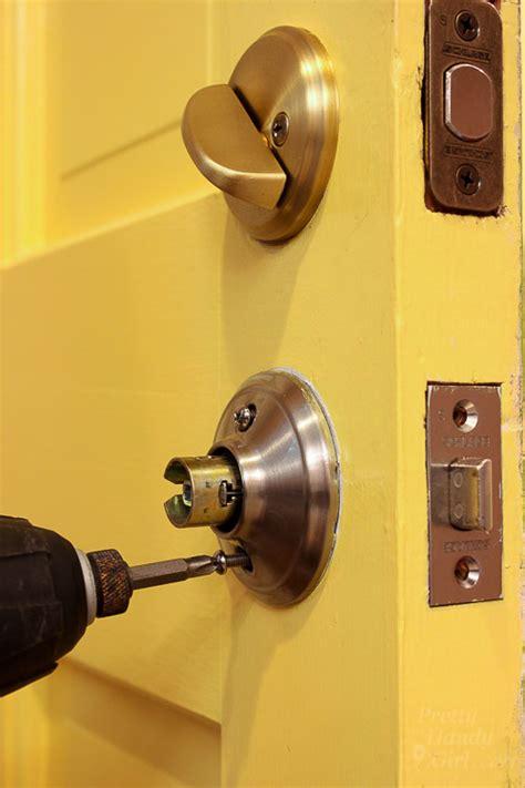 replace door knobs  deadbolts pretty handy girl