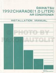 1992 Daihatsu Charade Original Repair Shop Manual