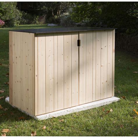 meuble a balai pour cuisine armoire de jardin bois vertigo naturelle l 120 x h 91 x p
