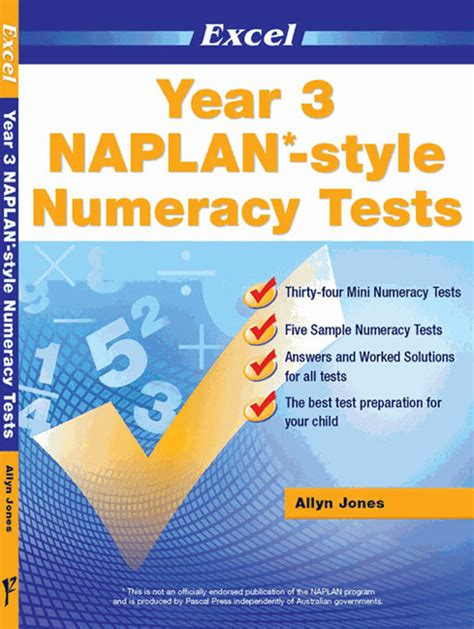 Excel  Naplan* Style Numeracy Test Year 3  Pascal Press Educational Resources And Supplies
