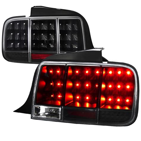05 09 ford mustang led sequential turn signal led tail lights black