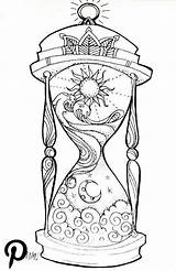 Hourglass Coloring Night Adult Drawings Drawing Printable Draw Adults sketch template