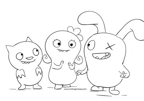 ugly dolls coloring pages  uglydolls  coloring
