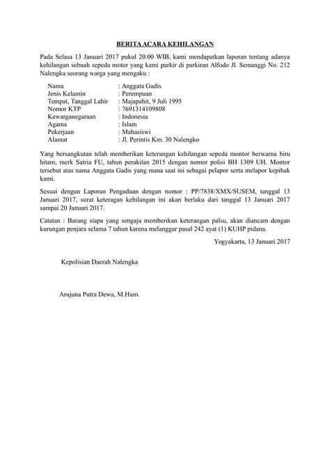 Contoh Surat Pernyataan Kematian Suratmenyuratnet