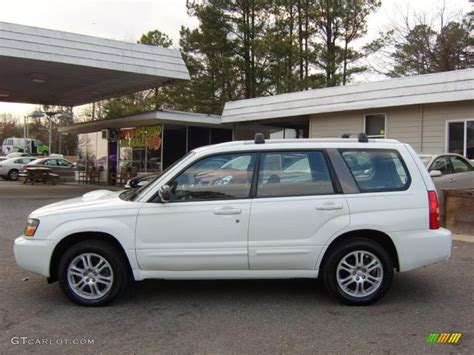 subaru forester white aspen white 2005 subaru forester 2 5 xt exterior photo