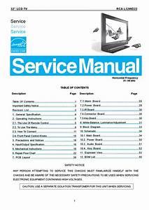Manual De Servi U00e7o Televisor Rca Modelo L32wd22  Completo