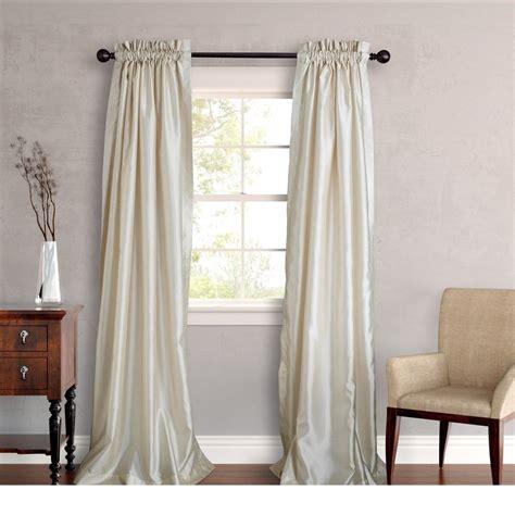 Silk Drapes - new set 2 window curtains panels drapes pair 108 quot faux