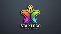Star Person Logo Design PSD – GraphicsFamily