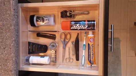 mans bathroom drawer organizer custom acrylic drawer