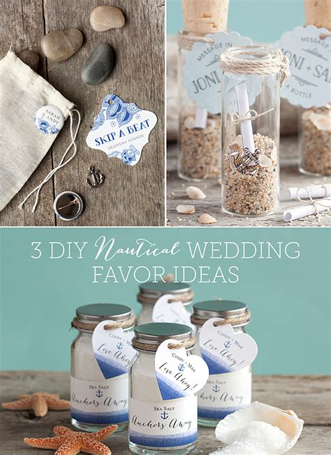 3 diy nautical wedding favor ideas evermine weddings
