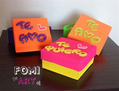 cajas con mensajes en fomi regalos diy g