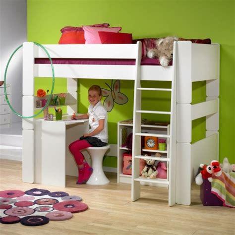 lit mezzanine fille avec bureau lit mezzanine enfant fonctionnalité et rêve réalisés