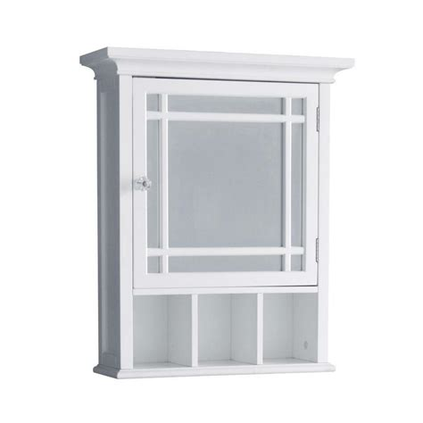 Bathroom Wall Cabinets With Mirror by Neal Wall Mount Medicine Cabinet W 1 Mirror Door Cubbies