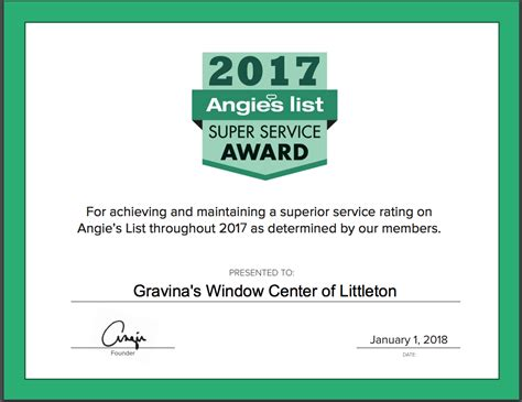 sliding gliding angie 39 s list service award winner for 2017