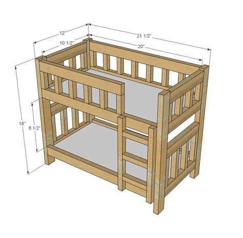 ana white camp style bunk beds  american girl   dolls diy projects