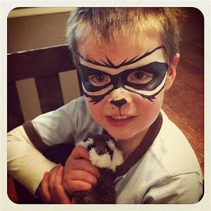 Rocket Racoon face paint | kids | Pinterest