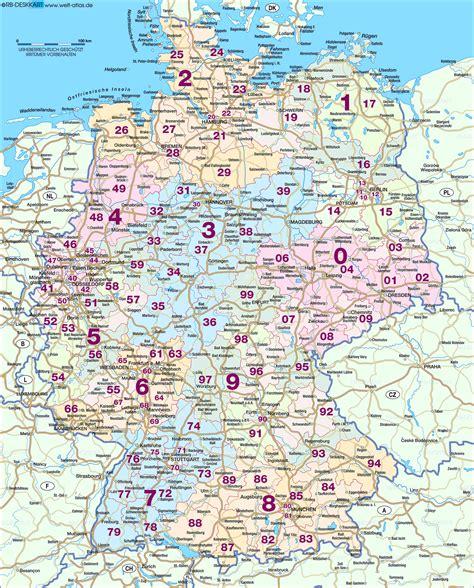 Deutschland Karte Mit Postleitzahlen