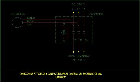 connection photocell  lighting contactor
