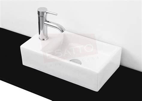 bathroom sink square esatto paquete mini grand lavabo llave valvula cespol