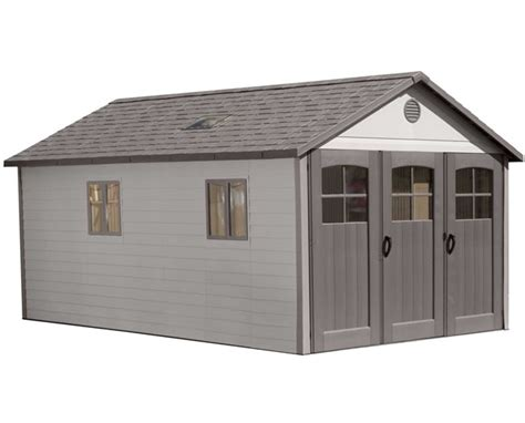 lifetime storage shed lifetime 11x18 plastic storage garage kit w 9ft wide