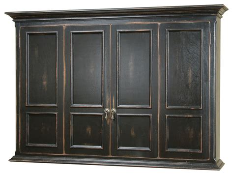 Tv Wall Cabinets For Flat Screens With Doors by Hillsboro Flat Screen Tv Wall Mount Cabinet Traditional