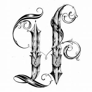 """""""H"""" / Tattoo Design by unkle evolve, via Behance 