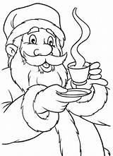 Coloring Chocolate Fudge Santa Drink Claus Mug Template Getdrawings sketch template