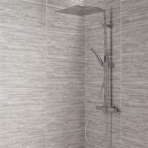 Pierre Blanche Leroy Merlin : carrelage mur gris wallstone x cm leroy merlin ~ Melissatoandfro.com Idées de Décoration
