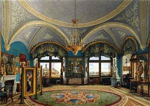 Extraordinary Rusian Palace Interior with High and ...