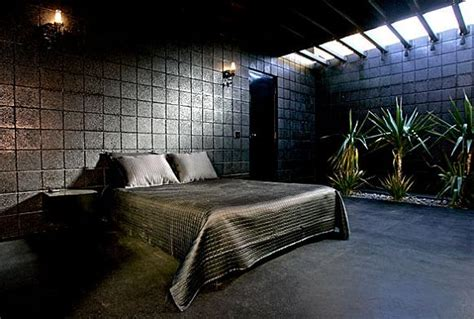 All Black Bedroom by What Happens When A Rocker Designs A Desert Home