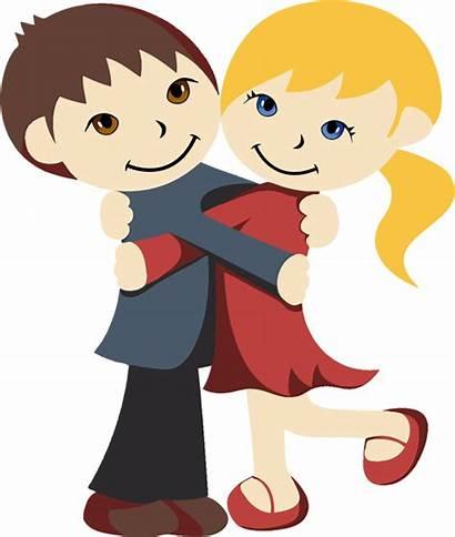 Hug Clip Happy Cartoon Valentines Network