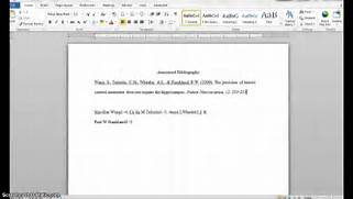 Creating An APA Format Annotated Bibliography YouTube APA Format For A Website Reference YouTube Example Of A Typical APA Reference List APA Format For The Sciences