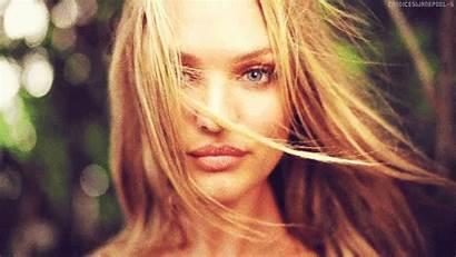 Candice Swanepoel Secret Victoria Hair Blonde Wind