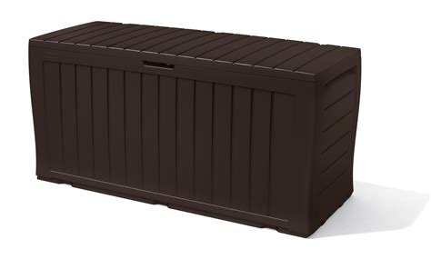 Keter Glenwood Deck Box by Keter Marvel Plastic Deck Storage Box Outdoor Patio