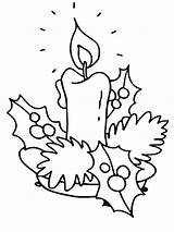 Coloring Christmas Candle Pages Kindergarten Introducing sketch template