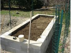How to Build a Concrete Block Raised Bed Garden