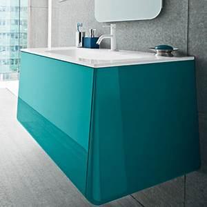 Meuble De Salle De Bain Bleu : meuble salle de bain bleu turquoise ~ Teatrodelosmanantiales.com Idées de Décoration