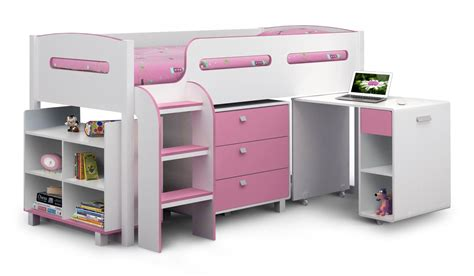 childrens bed with julian bowen kimbo cabin pink single childrens bed