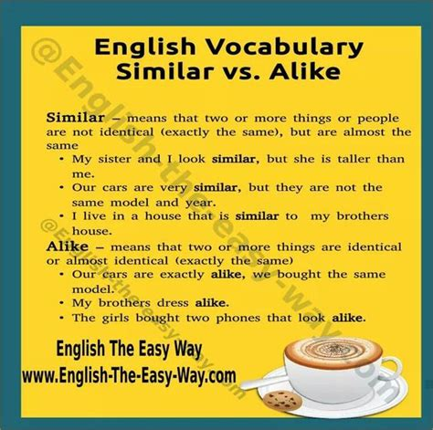 similar  alike english learn site