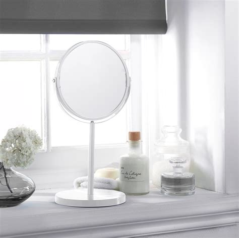 Bathroom Mirror Stand by Large Cosmetic Mirror On Stand White Mirrors B M