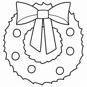 christmas wreath coloring page wreaths pinterest With christmas wreath template printable