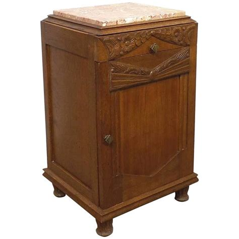 nightstand for sale 1930s deco nightstand with pink marble top for sale at
