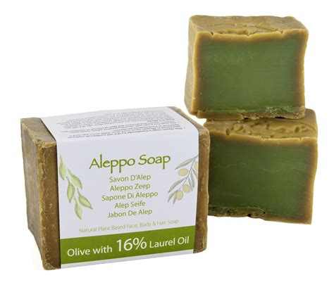 Superior Traditional Aleppo Soap 16%  200gm Bar  Green Bear