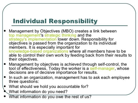 Management By Objectives (mbo