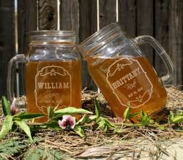 personalized jars for wedding favors wedding favors personalized jar mugs rustic by scissormill