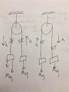 Solved  Draw A Free Body Diagram For M1 And M2 In Each Pro