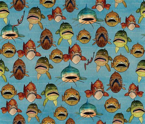vintage fish wallpaper gallery