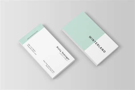simple business card template inspiration cardfaves