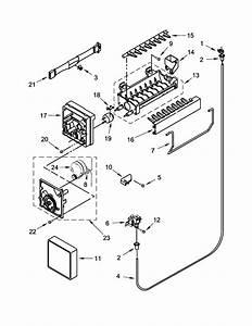 Ice Maker Diagram  U0026 Parts List For Model 10672152111
