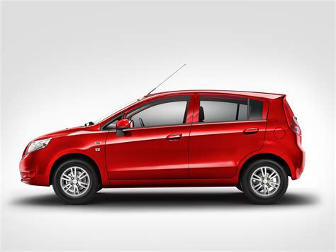 Chevrolet Sail Hatchback Side View 'red